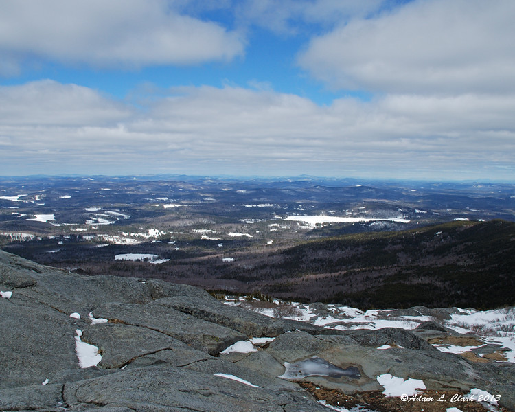 View to the north from the summit