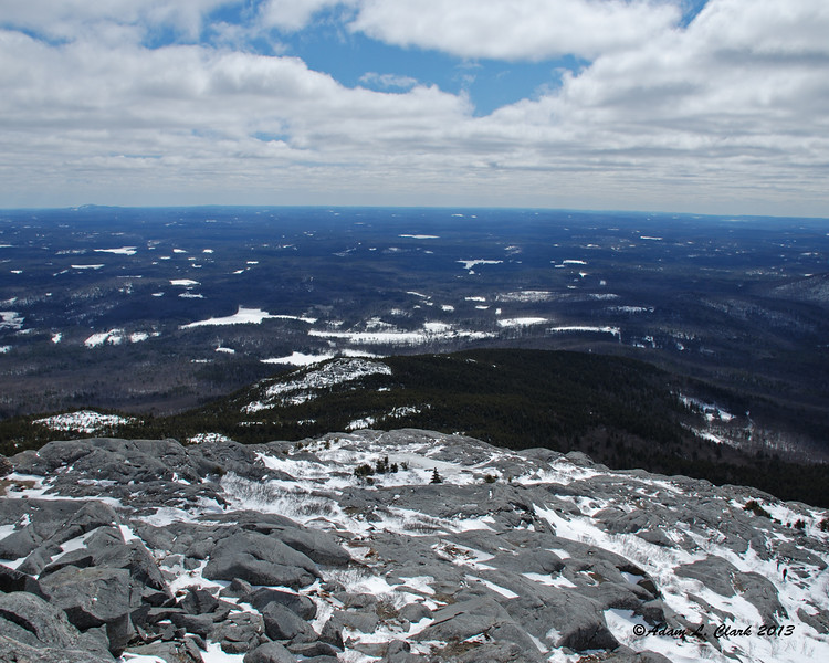 View from the summit to the south over Bald Rock