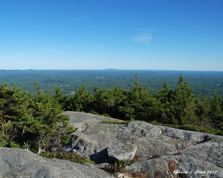 View to the southeast from Bald Rock