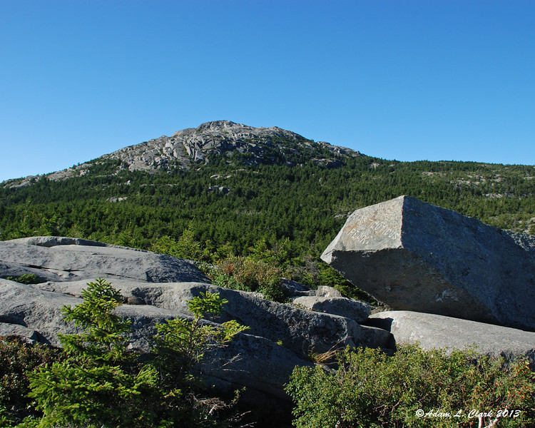The view up to the summit from Bald Rock/Kiasticuticus Peak