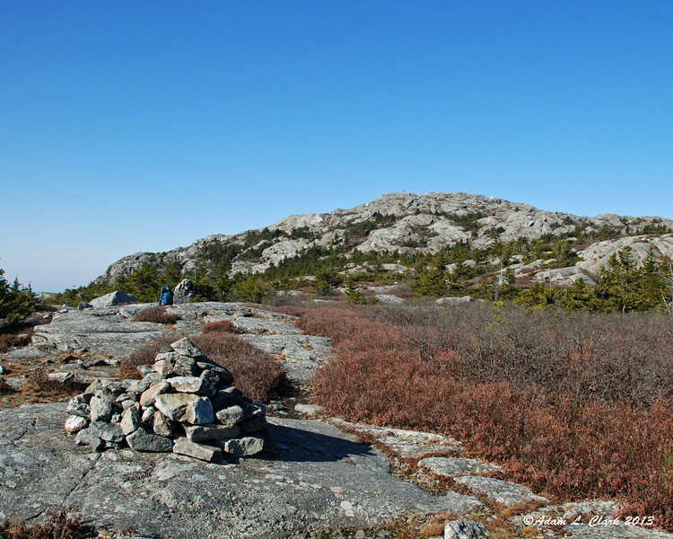 View of the summit from the now abandoned section of the Smith Connecting Link