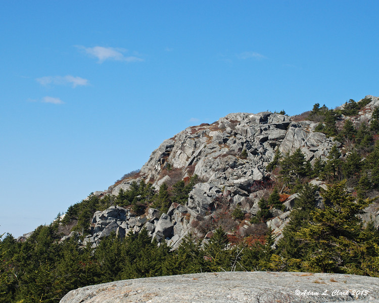 Some jumbly rocks at an outcropping of the mountain
