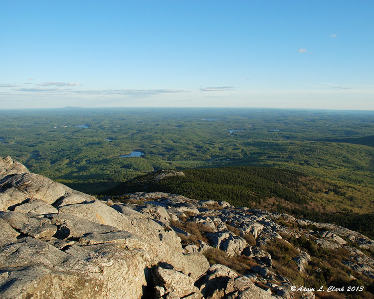 View to the south from the summit looking over Bald Rock