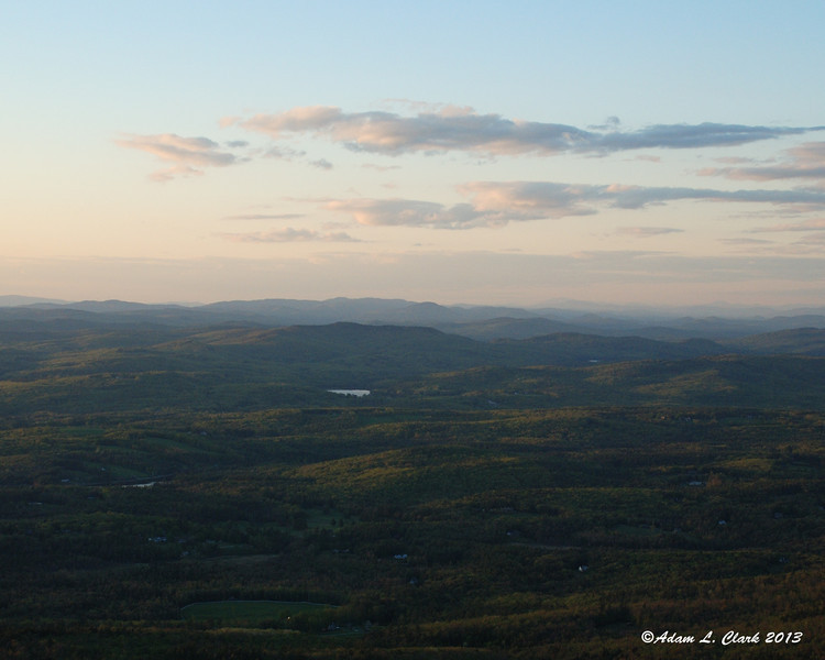 The color of the hills to the north starting to change