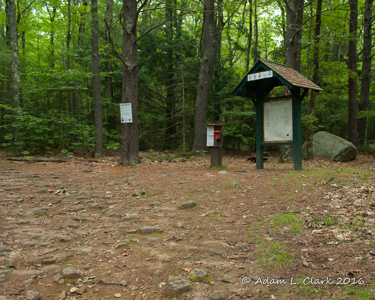 The kiosk at the start of the trail