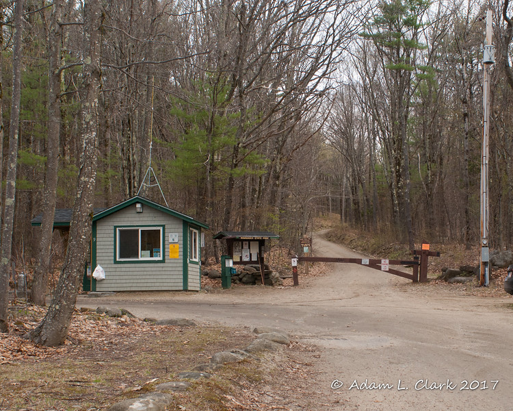 The ranger station and start of both the trail and the old toll road