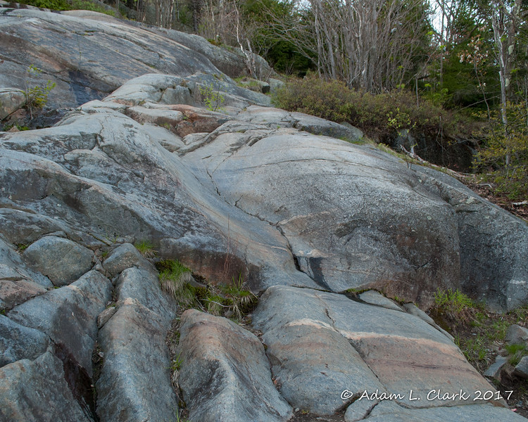 A nice smooth section of rock from many years of water and feet passing over it