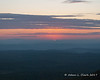 The last bit of sun dips below the horizon