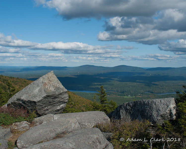 The view east from Bald Rock with the Kiasticuticus Peak rock in the foreground