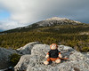 With winds averaging 29 mph on the summit, Miles and I agreed it was best to take his picture lower down on the mountain instead of at the top.  We didn't want him blowing away