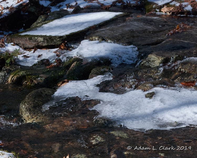 A closer look at the ice and rocks to cross on