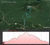 A Google Earth representation of the hike