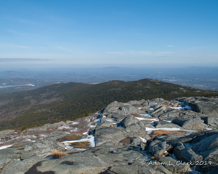 View northeast over Pumpelly Ridge from the summit