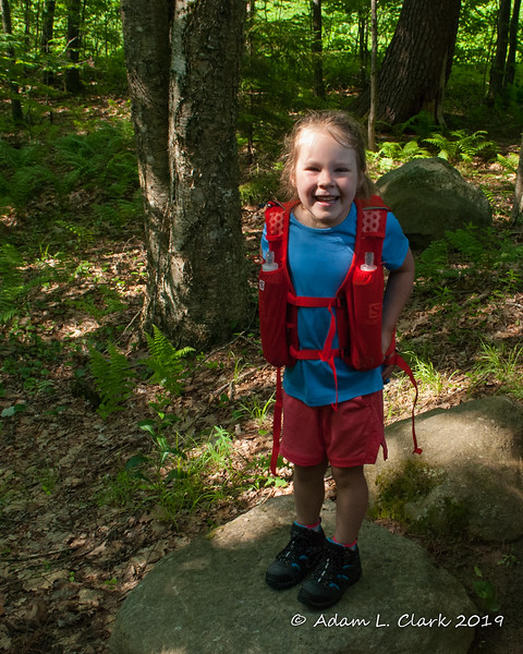 Liliana ready for her first hike of Mt. Monadnock