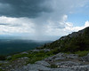 As we neared the summit, people warned us about an incoming storm.  This was it and luckily it just missed the mountain