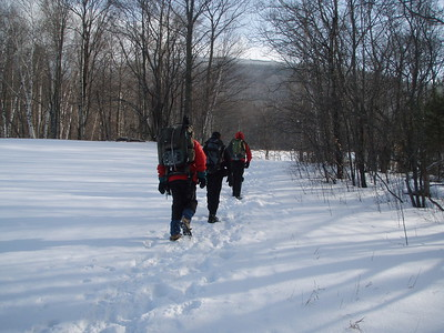 All of us wore some type of traction device and we met few hikers on the way to the summit.