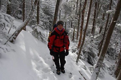 Snowshoes were not needed.