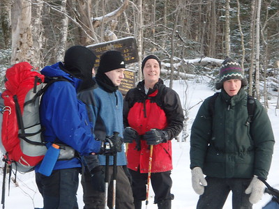 The trail was firmly packed and the footing was fast and comfortable for all of us.