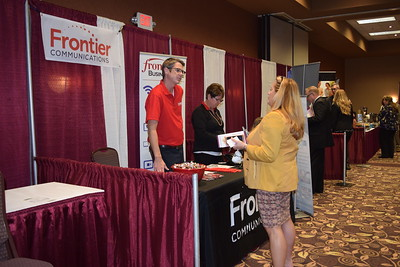 Susan Field-The Morning Sun  Visitors and business owners mingle at the 2016 Mt. Pleasant Area Chamber of Commerce Business Expo Thursday, Oct. 6,  2016