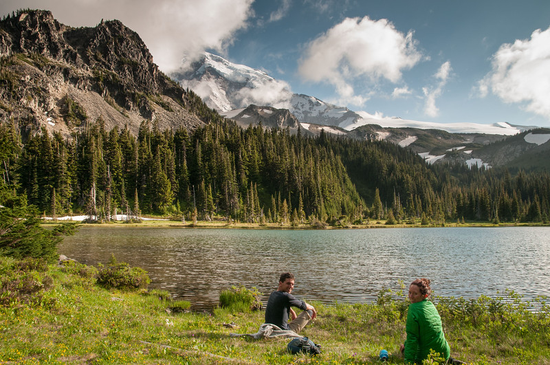 129 - MDW Mystic Lake view - Mt. Rainier backpack