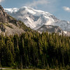 MDW Mineral Mountain Liberty Ridge and Willis Wall - Mystic Lake view - Mt. Rainier backpack