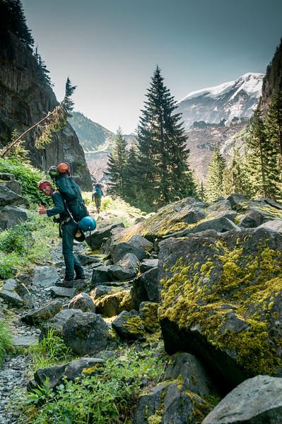 115 - MDW hike up to Mystic Lake Camp - Mt. Rainier backpack - 06