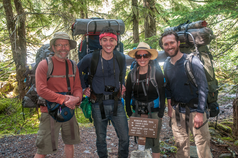 113 - MDW hike up to Mystic Lake Camp - Mt. Rainier backpack - 05