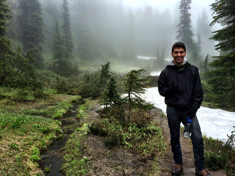 SML David Sunday day hike up Marmot Creek  - Mt. Rainier backpack