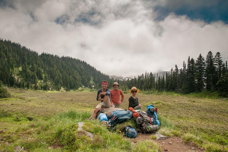 123 - MDW hike up to Mystic Lake Camp - Mt. Rainier backpack - 44