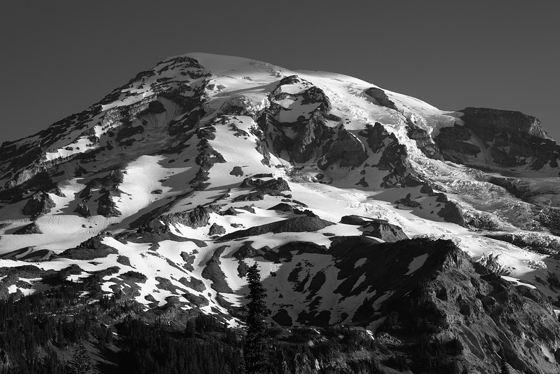 Mt Rainier in morning light.