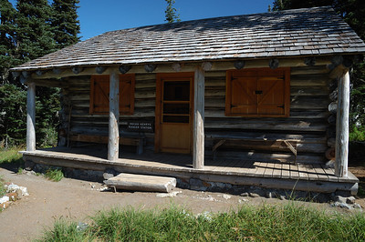 Rangers Cabin, shuttered for the winter