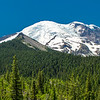 Mt Rainier and Little Tahoma from Emmons Moraine trail