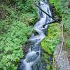 Small waterfall feeding Fryingpan Creek
