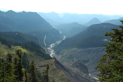 Nisqually River flowing down the valley
