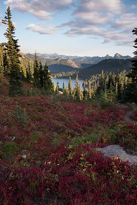 Dewey Lake below a sea of reds