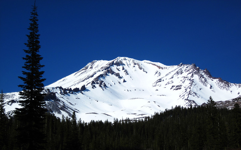 The South Side of Mt. Shasta view from Bunny Flat Trailhead on Monday June 11th.