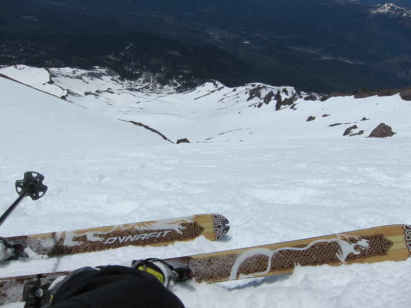 Jeff, ready to ski down.