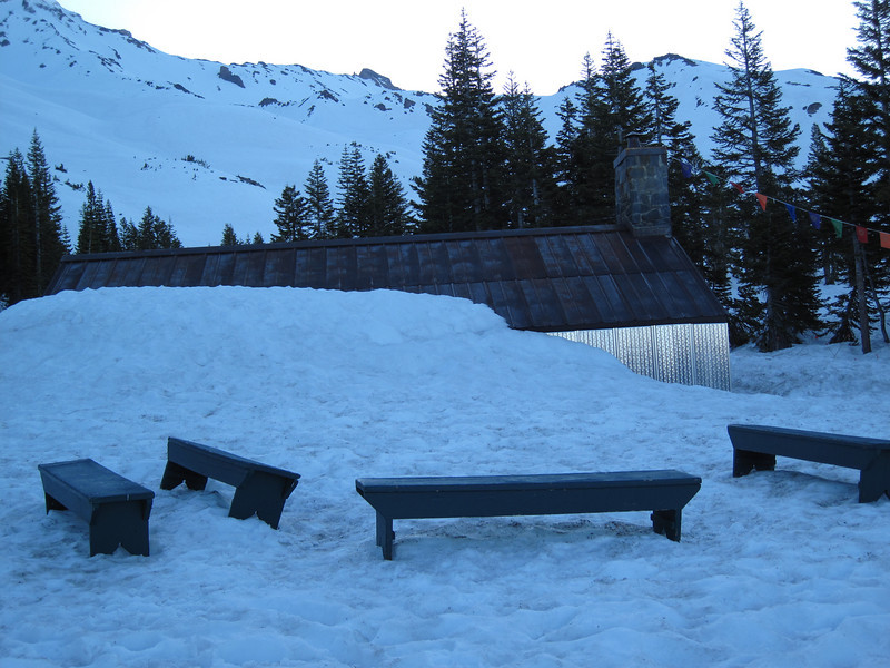 benches to sit on while you eat and visit.