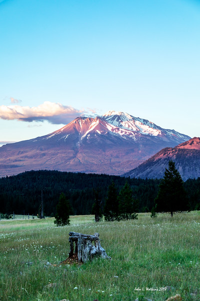 A Little Alpenglow at Mt. Shasta