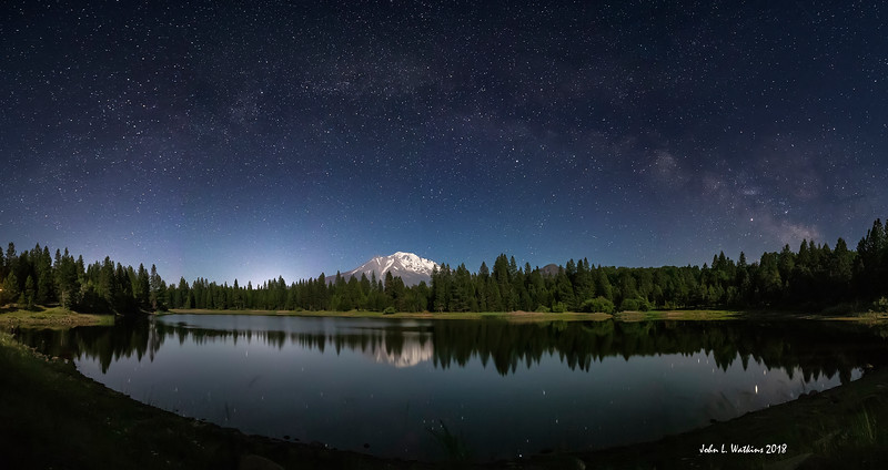 Milky Way Arch Over Mt. Shasta