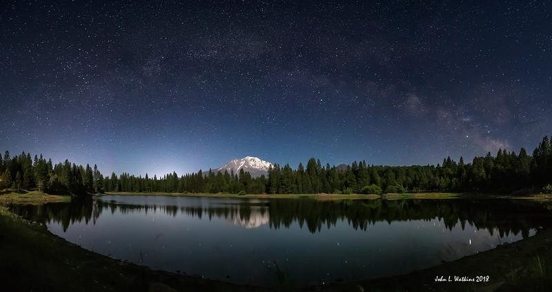 Milky Way Arch Over Mt. Shasta