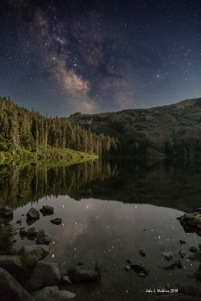 Milky Way Over Castle Lake