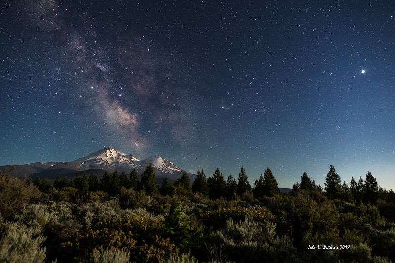 Milky Way Over Mt. Shasta