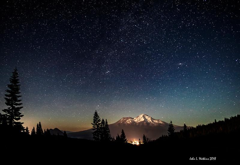 Mt. Shasta Under the Stars