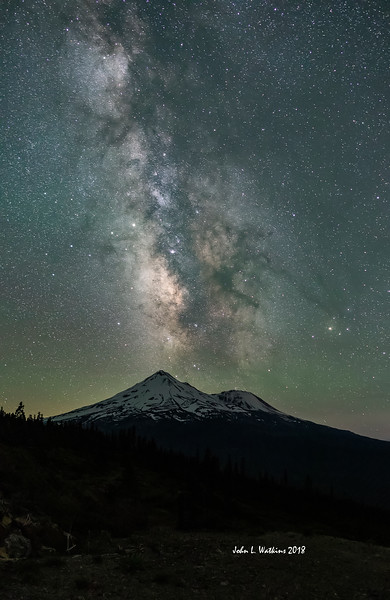 Mt. Shasta Milky Way Old School