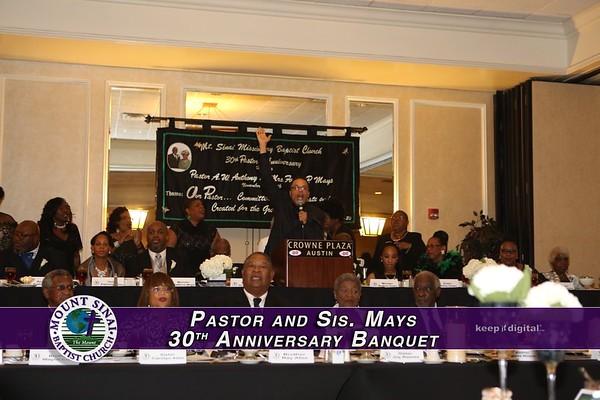 Pastor & Sis Mays 30th Anniv Banquet