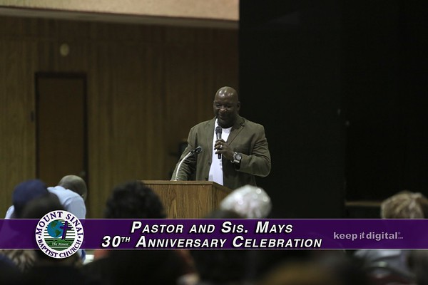 Pastor & Sis Mays 30th Anniver Wed Service