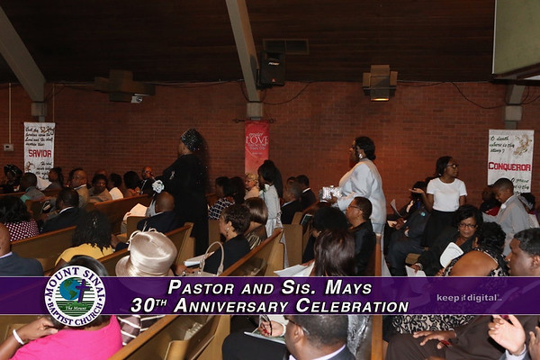 Pastor and Sis Mays 30th Anniv Service
