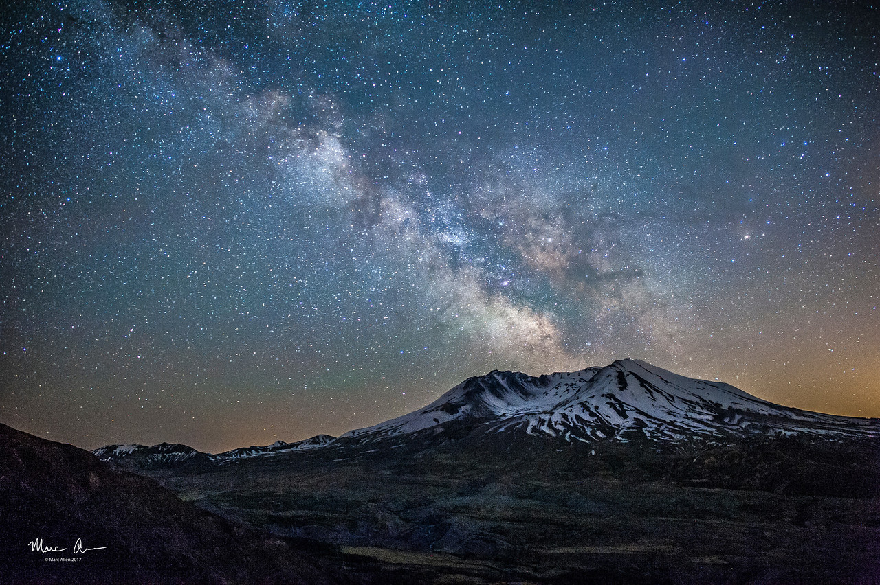 The Milky Way over Mt. St. Helens, as seen near the new moon on May 26, 2017.  This is the first Milky Way picture I ever took.