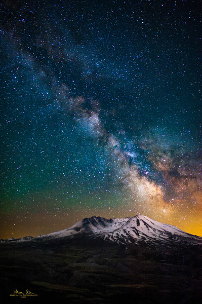 The Milky Way over Mt. St. Helens, as seen near the new moon on May 26, 2017.